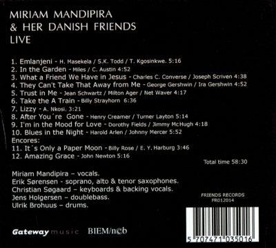 Miriam Mandipira & Her Danish Friends – Live