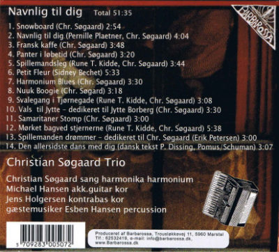 Christian Søgaard Trio – Navnlig til Dig